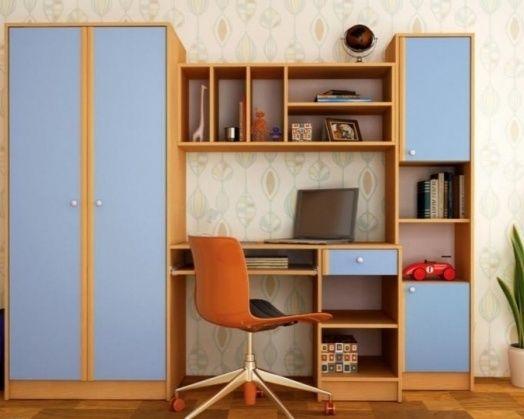 Детска Секция с бюро, гардероб и скрин
