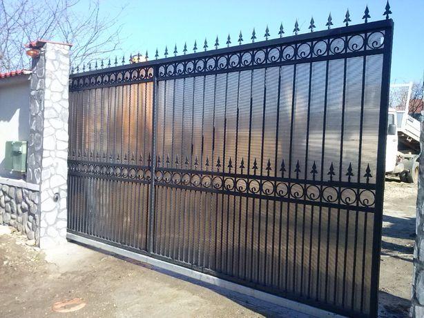 Porti garduri grilaje balustrade fier forjat teava patrata rotunda