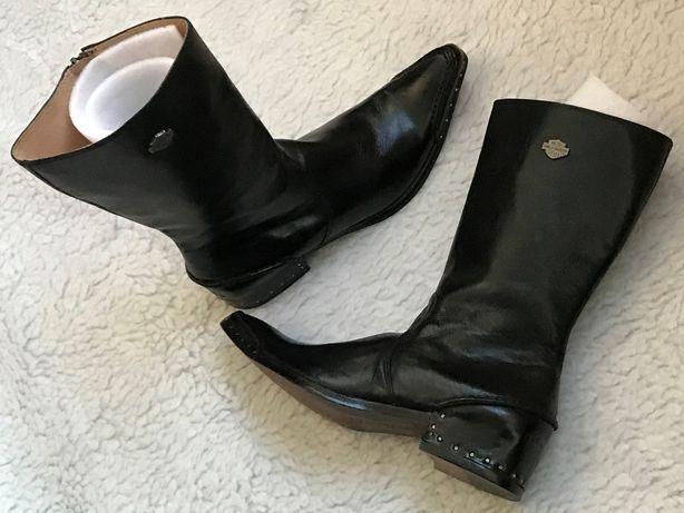 Ciocate negre dama piele cizme Harley Davidson originale tinte