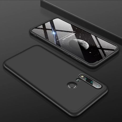 Кейс 360° Градуса Мат за Huawei P Smart Pro + стъклен протектор