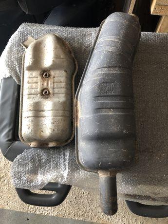Bmw-e34 520/150ps m50 оригинални заден ауспух и средно гърне