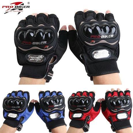 """Летние Защитные Мотоперчатки """"Probiker"""" (без пальцев). Большой Выбор!"""