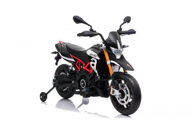 Motocicleta electrica pentru copii APRILIA DORSODURO 900 (A007), Negru