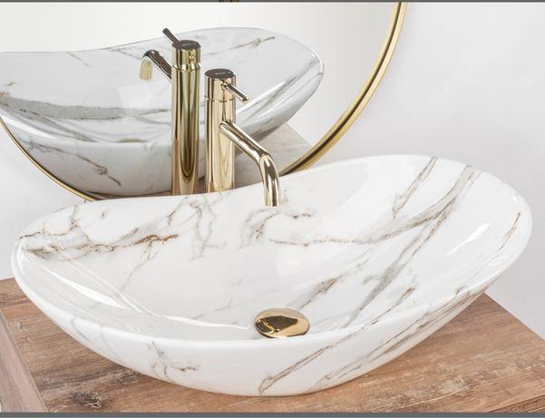 Lavoar baie Marmura ceramica sanitara – 62,5 cm