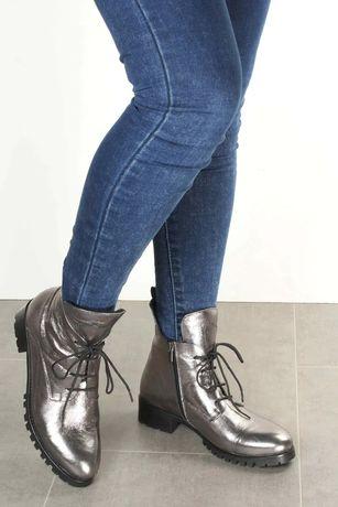 Женские осенние сапоги из натуральной кожи, женская обувь актобе