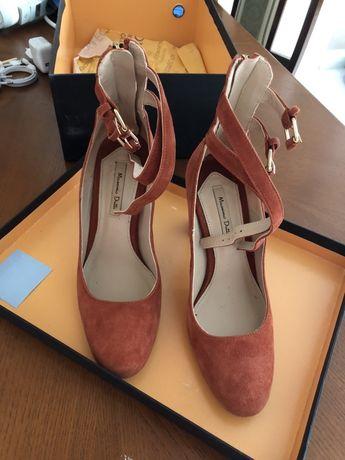 Туфли испанского бренда Massimo dutti , натуральная замша