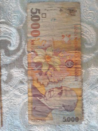 Bancnote 5000 lei cu chipul lui Lucian Blaga