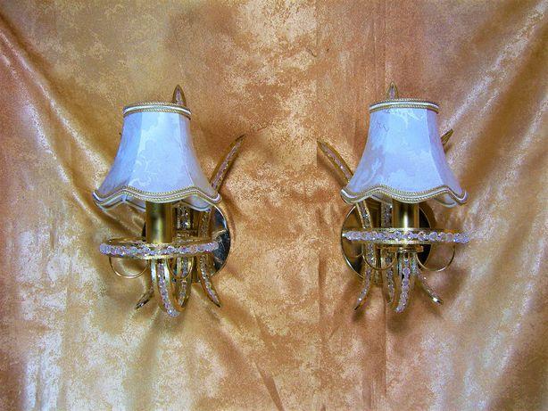Set aplice Versailles luxe alama bronz dore cristale Franta vintage