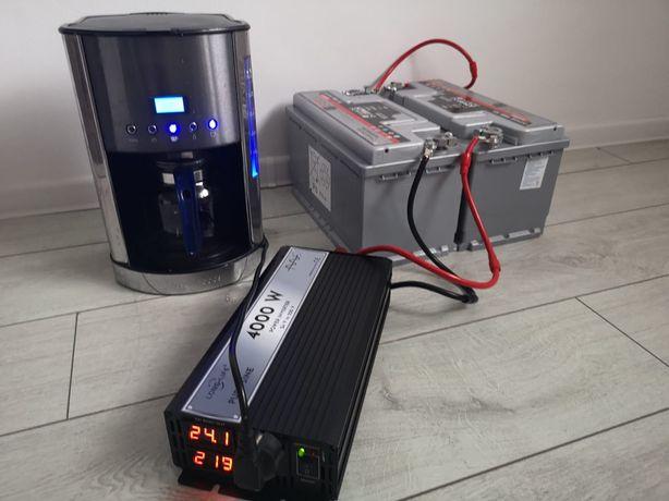 Invertor 24 V - 220 V, sinus pur , camion, tir, panouri solare