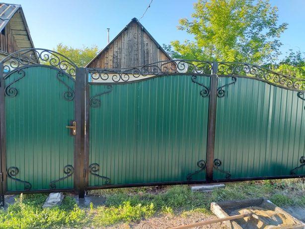 Кованные металлоизделия (ворота,забор,навес,качеля,перила,лестница)