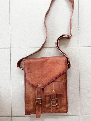 Мъжка чанта за таблет, естествена кожа, нова