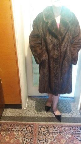 Кожено палто визон цяла кожа