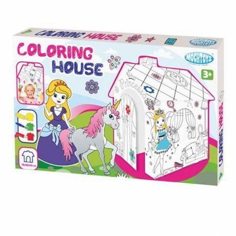 Картонена къща за оцветяване и сглабяне