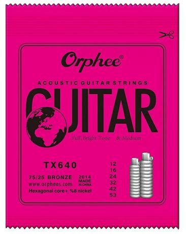 Corzi chitară acustică Orphee Noi set chitara rece 12-53,