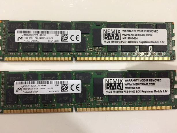 Серверная ОЗУ NEMIX RAM 16GB 2Rx4 PC3-14900R DDR3