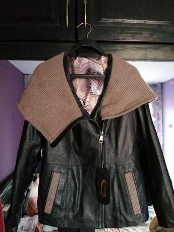 Нов хитов модел дамско кожено яке - естетвена агнешка и лисича кожа