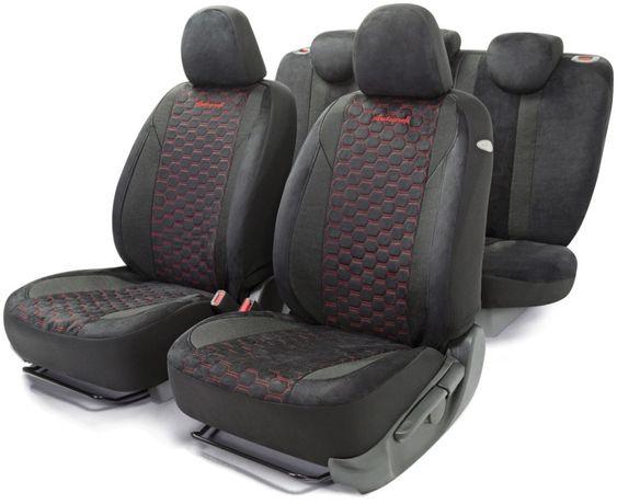 Комплект чехол из алькантары на сиденья автомобиля в салон авточехлы