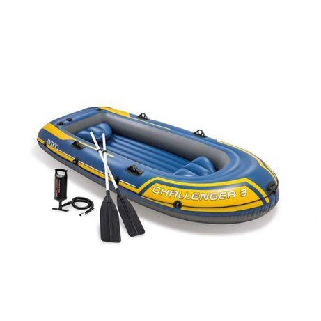 Barca gonflabila cu vasle si pompa, Challenger 3, 296x138x42 cm
