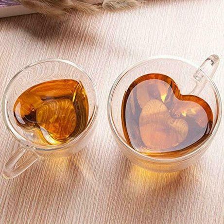 Cana Valentines Dragobete pereti dubli forma inima. 180 250 ml Noi!
