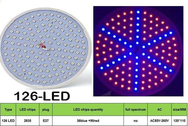 New Bec cu Dulie E27 LED Intensificare Plante 126 LED Full spectrum