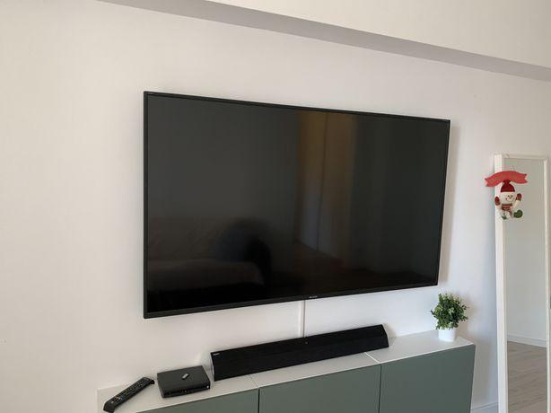 Televizor LED Smart Sharp, 164 cm, LC-65CUG8052E, 4K Ultra HD, Clasa A