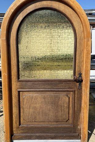 Usa casa firma boltita lemn geam vitraliu termopan H 210 x L 114