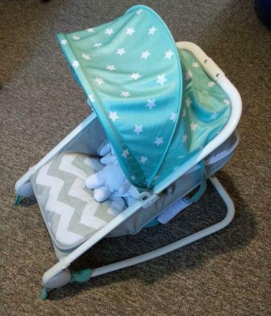 Качели-шезлонг Happy baby Bouncer Blue.