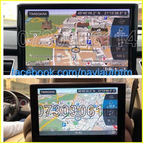 AUDI HARTI Navigatie MMI 3G A4 A5 A6 A7 A8 Q5,Q7 HDD Eu+ROMANIA 2019