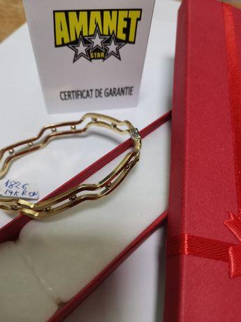 Brățară fixa aur 14k model deosebit (lef)