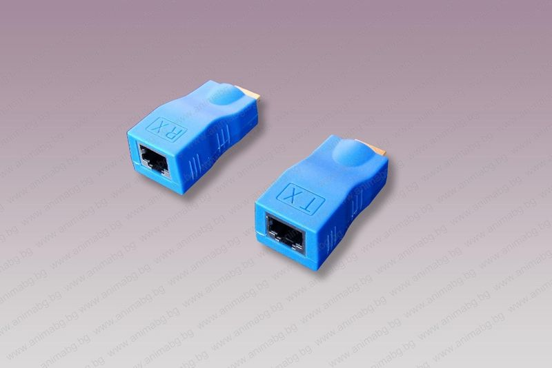 ANIMABG HDMI удължител с лан кабел до 30м гр. Шумен - image 1