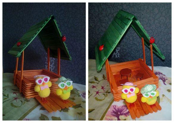 Ръчно изработени вази, къщичка за птички