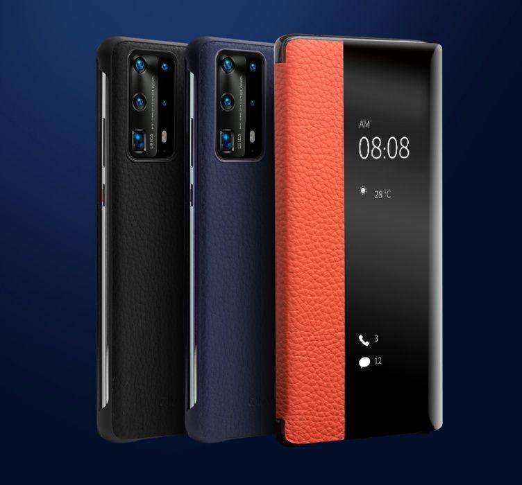Husa Huawei P40 Pro, P40, P30 Pro, P30, P20 Pro, smart cover, Qialino Brasov - imagine 1