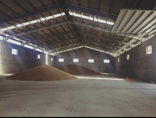 Vand hala pe structura pentru depozitare cereale invelita cu tabla