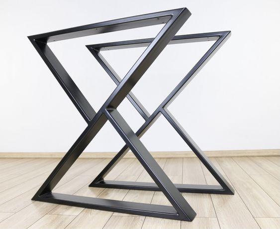 Set 2 picioare metalice model Z(masa terasa, living, bucatarie, cafea)