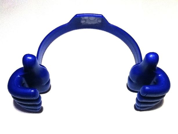 Suport telefon mobil universal, nou, albastru inchis, plastic flexibil
