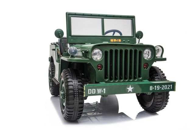 Masinuta electrica Jeep USA ARMY 4X4 180W PREMIUM #Verde