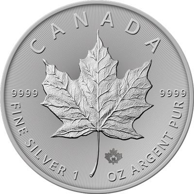 Moneda argint lingou, Maple Leaf Canada 2020 , 1 uncie=31 grame Iasi - imagine 1