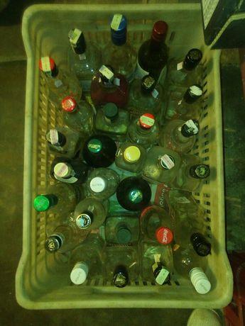 Стъклени бутилки с винтови капачки