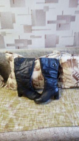 Продам сапоги кожаные