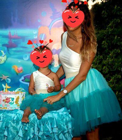 Рокля за майка и дъщеря модел Avin S и размер 2-3 години