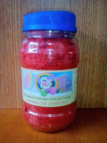 Colorant Rosu pentru Vata de zahar cu aroma de Zmeura
