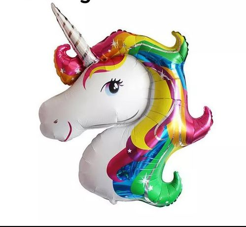 Balon folie aluminiu unicorn 117x87