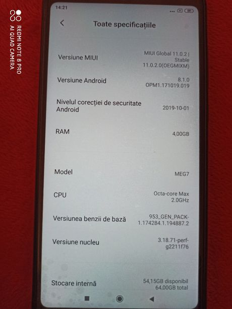 Telefon Xiaomi Redmi 5 Plus negru Octa-core 2.0 GHz,memorie ram 4 gb