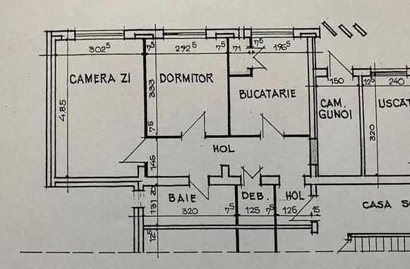 Apartament doua camere de vanzare parter Radu Negru