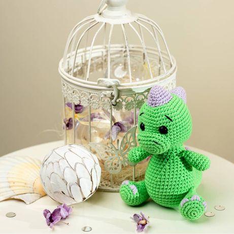 Плетени играчки на една кука - Драконче