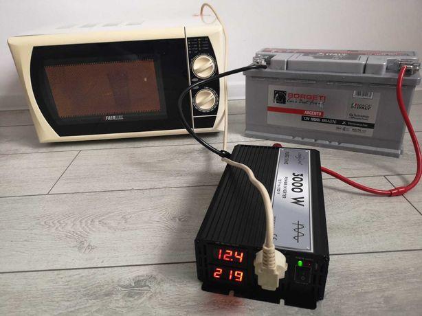 Invertor panouri solare 4000W 3000W 2000W 12 V-220 V SINUS PUR