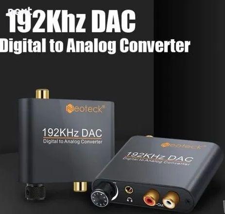 Висококачествен цифрово - аналогов аудио DAC с оптичен вход + Гаранция