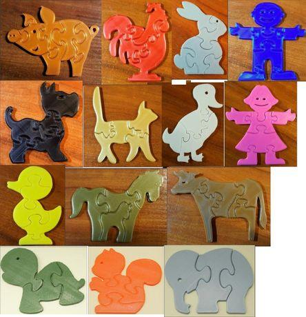 puzzle simple: animale, continente, avioane, dinosauri, star wars