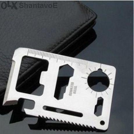 Инструмент за оцеляване с размер на кредитна карта
