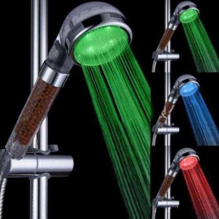 Топ избор! Нов турмалинов алкализиращ и йонизиращ душ светещ в 3 цвята